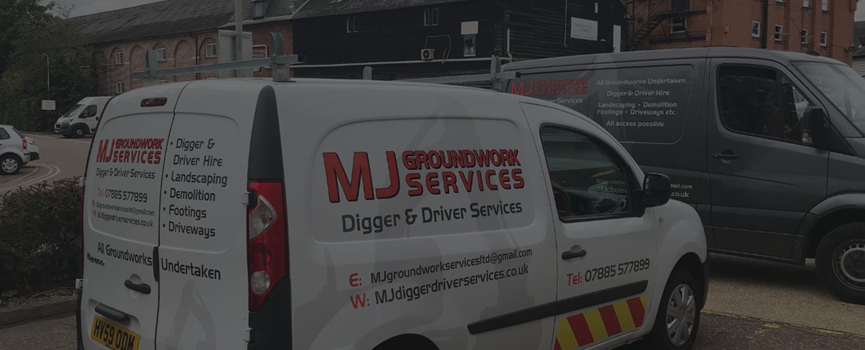 m j groundwork services van