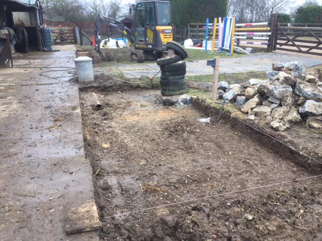 groundwork services in progress in romford